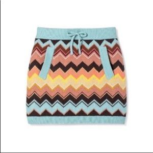 NWT Missoni For Target Cheveron Print Skirt